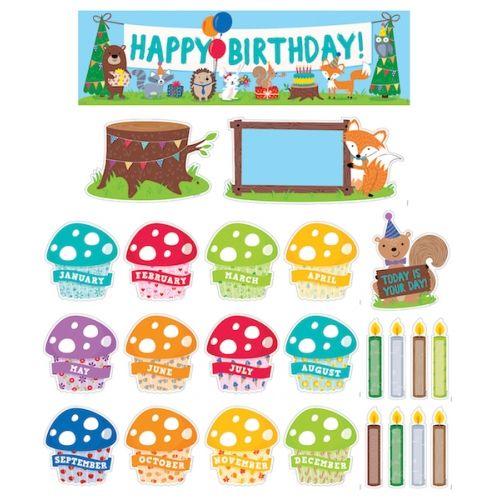 Woodland Friends Happy Birthday Mini Bulletin Board, CTP1758