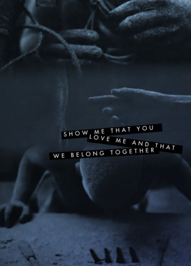 """show me that you love me and that we belong together""  TOOL"