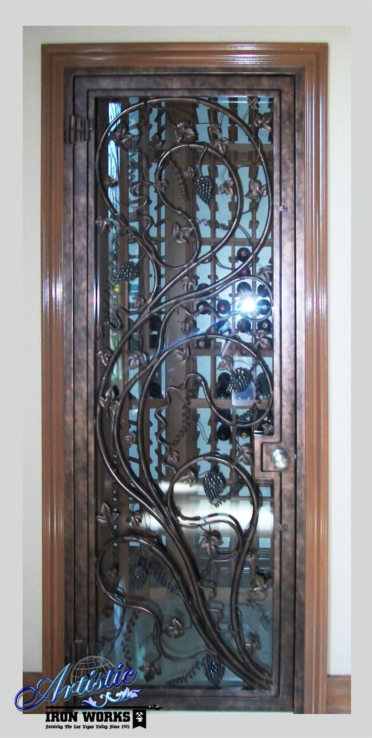 17 Best Images About Wrought Iron Wine Cellar Doors On