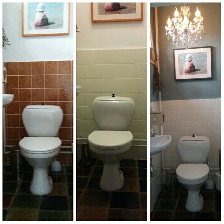 17 beste idee n over verf tegels op pinterest verf badkamertegels badkamertegels schilderen - Verf wc ...