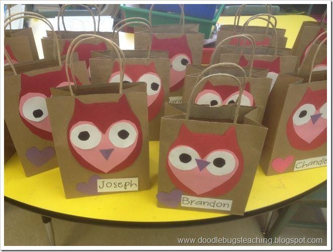 Valentine Bags For Kindergarten : Ideas about owl bags on pinterest felt owls