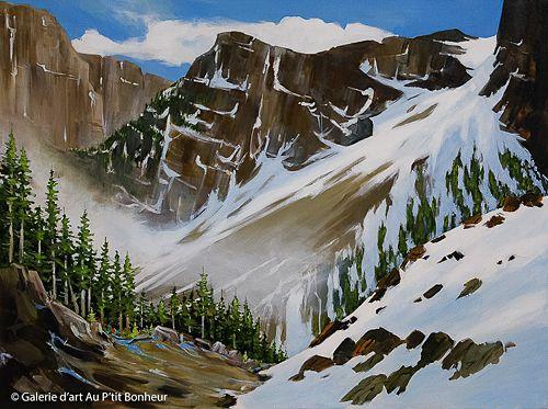Allan Dunfield, 'Aligh Valley', 30'' x 40'' | Galerie d'art - Au P'tit Bonheur - Art Gallery