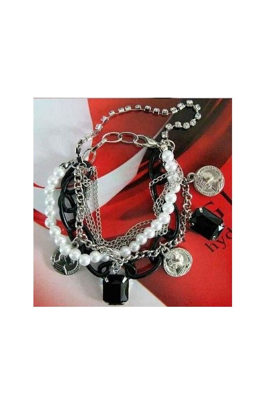 Pearl Bracelet - Multi-coin-     Alloy!     Multi coin!     Pearls! Shop Only at A$14.95