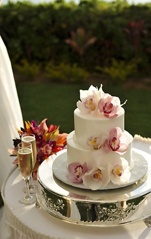 Image for Babycakes. Add a 2-row rhinestone wrap around the bottom and the middle layer. Not sure about the flowers on top.