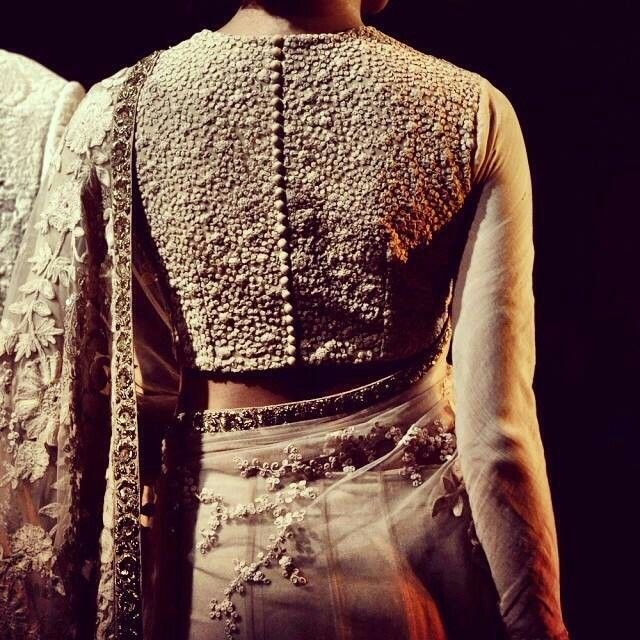 Sabyasachi Mukherjee love the detail of the blouse my favourite Indian designer sir you make us poud!