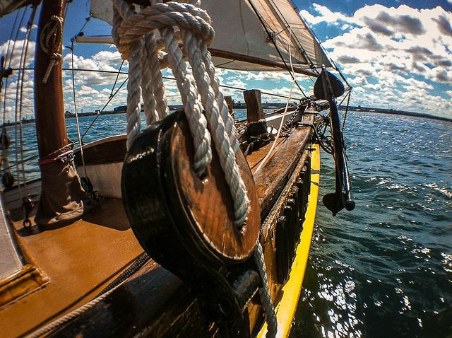 Older working vessel sailing On Hamilton Harbour Fisheye Crop By Terry Babij.jpg | Flickr - Photo Sharing!