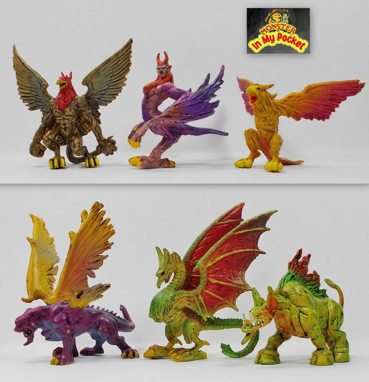 Monster In My Pocket - 2nd Gen 2006 - The Winged - Complete set of 6 figures