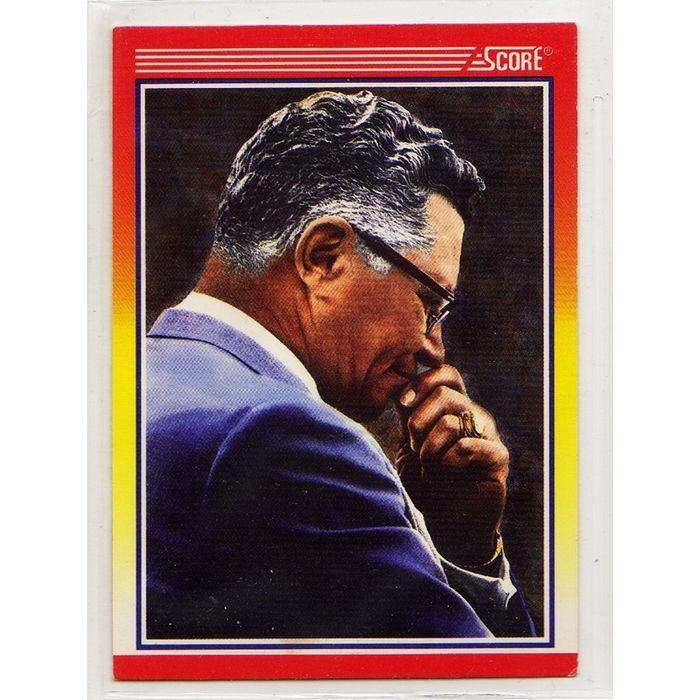 1990 SCORE NFL FOOTBALL TRADING CARD GREEN BAY PACKERS COACH VINCE LOMBARDI #603. Buy it on eBid Canada | 151874242