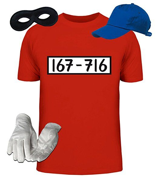 ShirtStreet, PANZERKNACKER Kostüm Set, JGA Karneval Fasching Herren T-Shirt+Cap+Handschuhe+Maske, Größe: XXL,rot