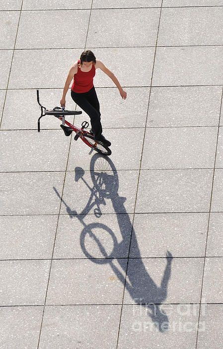 BMX Flatland Shadow Play. Rider: Monika Hinz. Click here to purchase a poster, print or canvas print: http://matthias-hauser.artistwebsites.com/featured/bmx-flatland-shadow-play-monika-hinz-matthias-hauser.html  Watermark will not appear on final product. 30 days money back guarantee. (c) Matthias Hauser hauserfoto.com #bmxflatland #bmx_flatland #bicycle