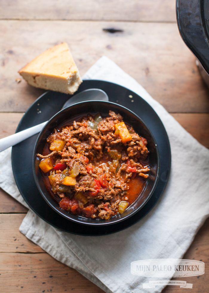 Paleo chili uit de Crock-Pot (met pompoen) - Mijn Paleo Keuken