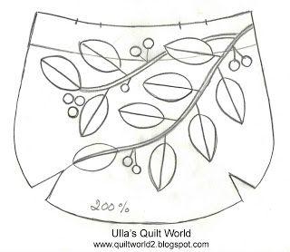 Ulla's Quilt World: Quilt bag, leafs + PATTERN