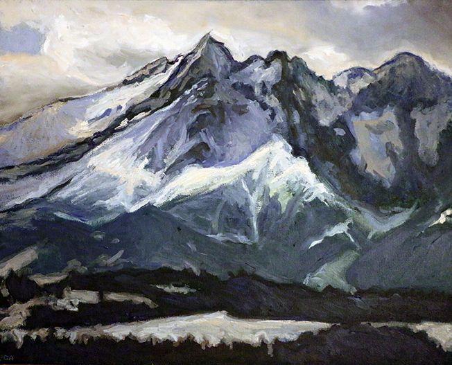 Góry, obraz olejny na płótnie Anna Michałowska