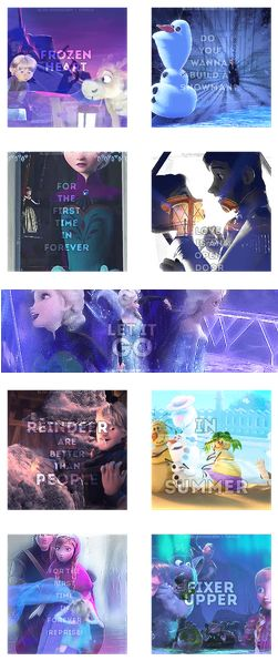 All the songs from Frozen...I think, anyway. I have'nt seen it yet! ;) Love Kristoff's song title: Reindeer are Better than People.