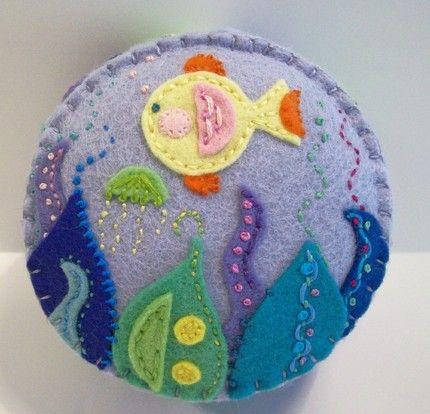 I love this undersea pincushion!