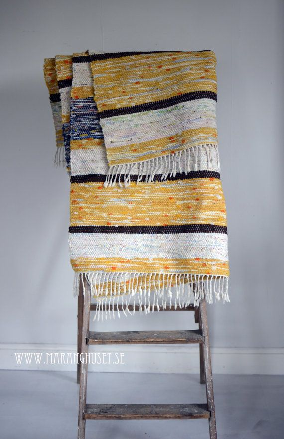 Solveig   Swedish Vintage Rag Rug in Sunflower by Maranghouse, €130.00