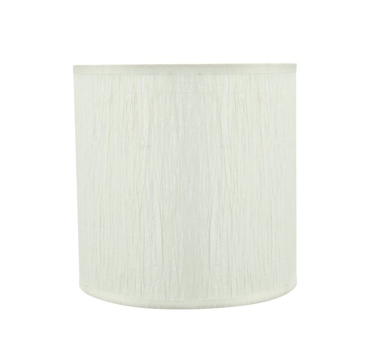 """# 31222 Transitional Drum (Cylinder) Shaped Spider Construction Lamp Shade in Off White, 8"""" wide (8"""" x 8"""" x 8"""")"""