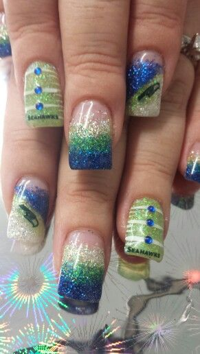 Seattle Seahawks Nails!