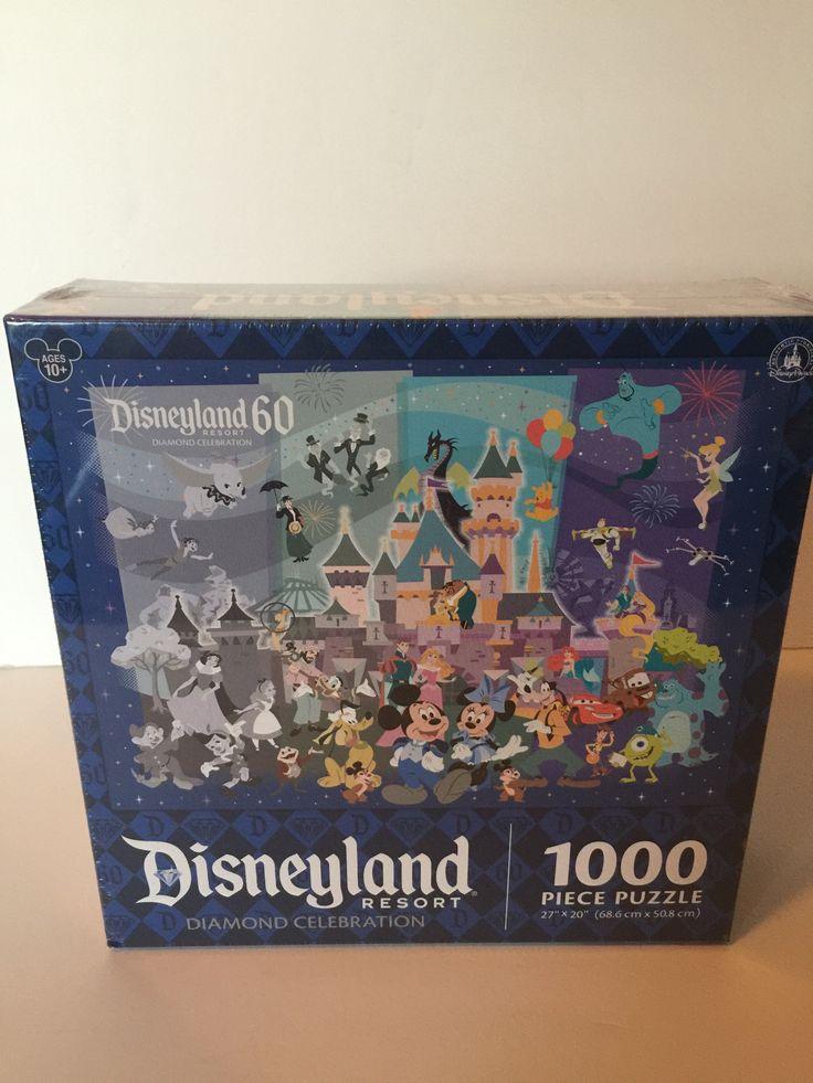 Disney Disneyland 60th Diamond Celebration 1000pcs Jigsaw Puzzle New with Box