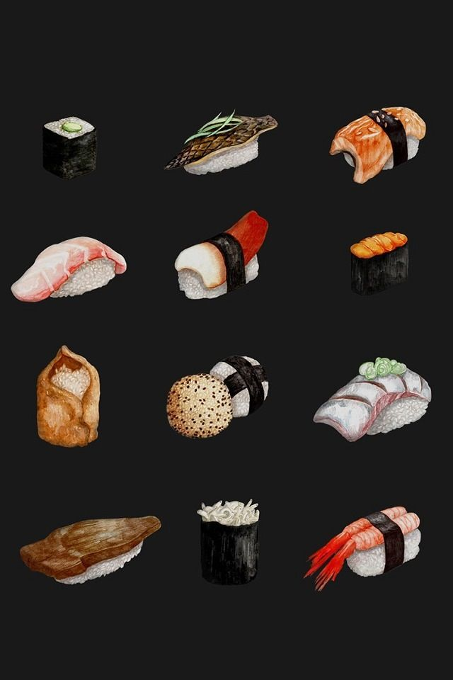 Sushi drawing (not mine)