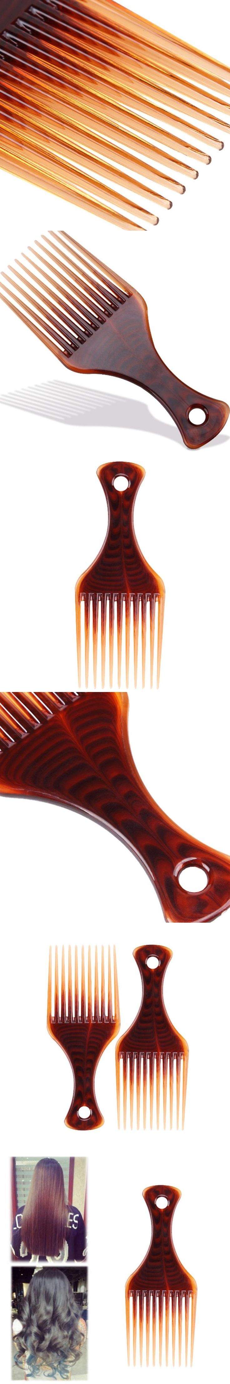 1 PC Afro Comb Curly Hair Brush Salon Hairdressing Styling Long Tooth Styling Pick #Y