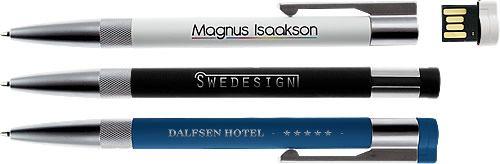 marketingkomm werbemittel: Werbe-USB-Stick und Werbekugelschreiber