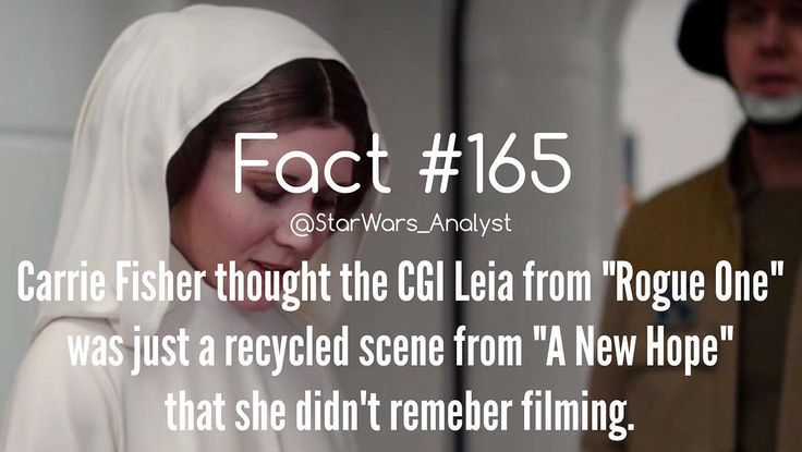 That makes me feel better. But the cgi Leia was still crappy. Tarkin was alright I guess