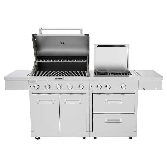 Kitchenaid Stainless Steel 8 Burner Grill In 2020 Kitchen Aid