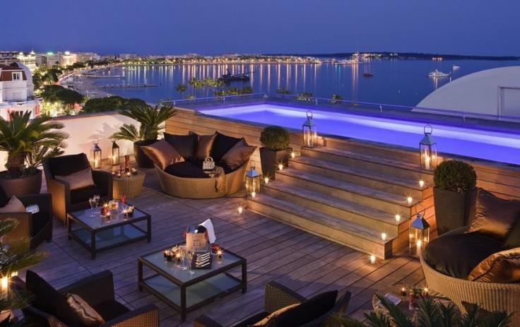 Festival de Cannes : Majestic Cannes Barrière, terrasse sur le toit du Majestic