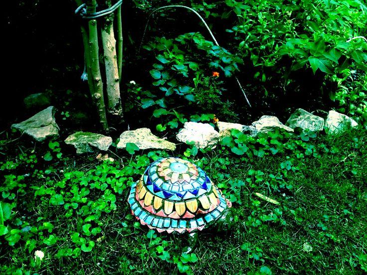 Óriásteknős / Huge mosaic turtle  www.mesekeramia.hu  #mesekerámia #kertidísz #teknős #ceramicturtle