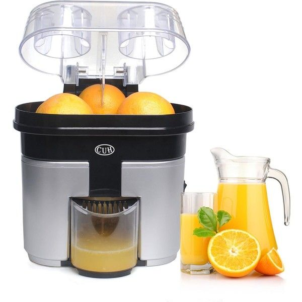 CUH 90w High Power Double Orange Citrus Juicer with Pulp Separator... (370 SEK) ❤ liked on Polyvore featuring home, kitchen & dining, kitchen gadgets & tools, orange juicer, orange utensils, citrus juicers, citrus fruit juicer and citrus juice extractor