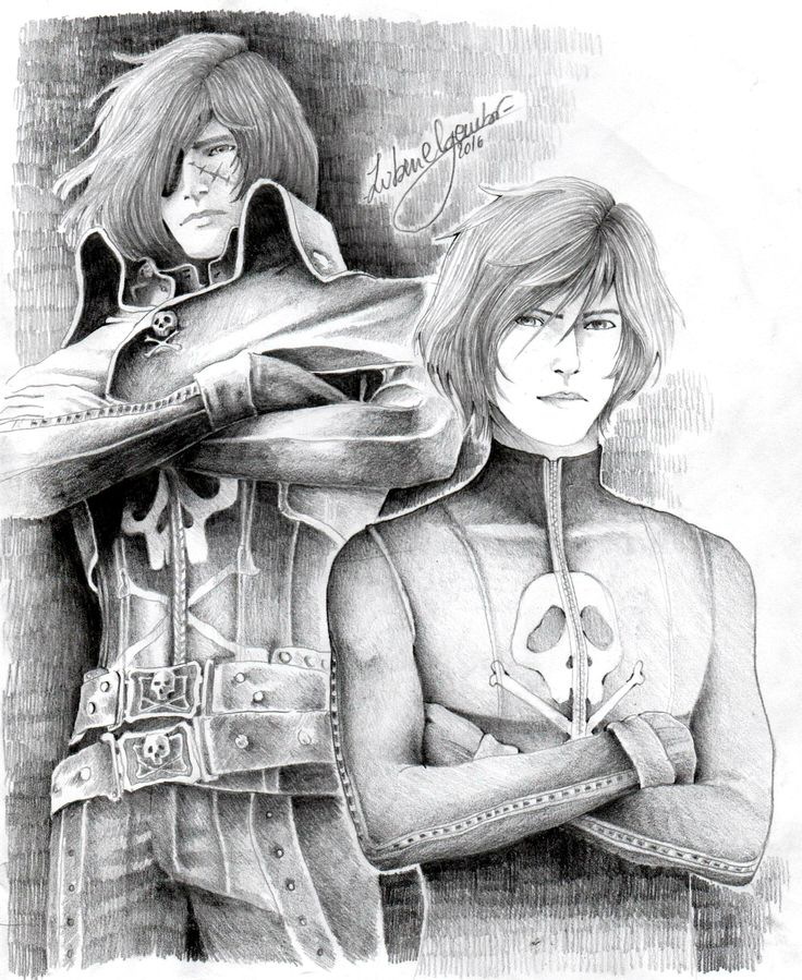 Harlock and son By ©AlessandraHarlockZubenelgenubi