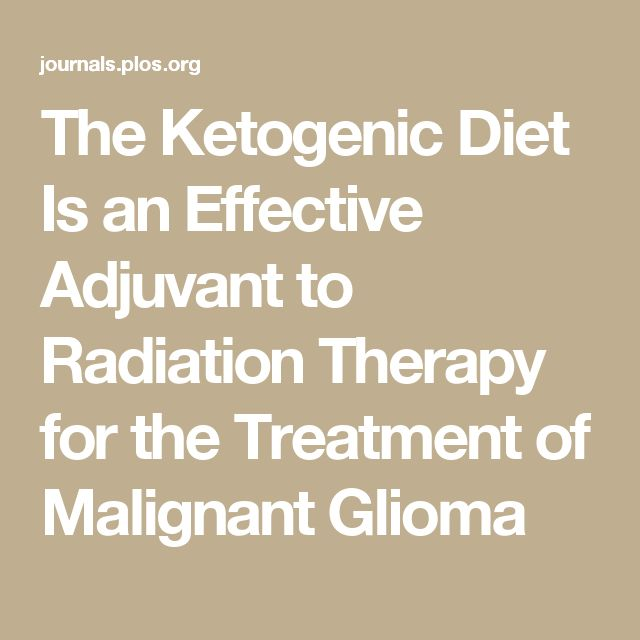 The Ketogenic Diet Is an Effective Adjuvant to Radiation Therapy for the Treatment of Malignant Glioma