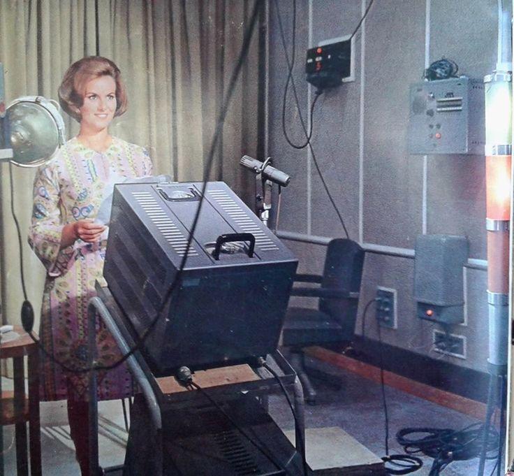 Studio annunciatrici TV anni '70