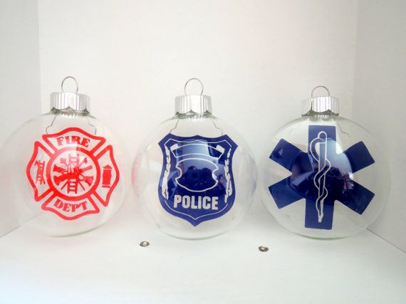 Peronalized EMT Police Firefighter Paramedic by LunaBeeCreations