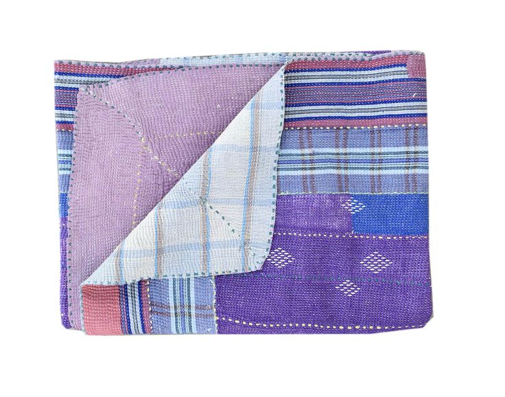 Vintage kantha quilt, Sari Blanket Bohemian Ethnic Indian Throw, Cotton Bedspread, Coverlet, Reversible Quilt Indian Bedspread Beach Blanket by JaipurHometextiles on Etsy