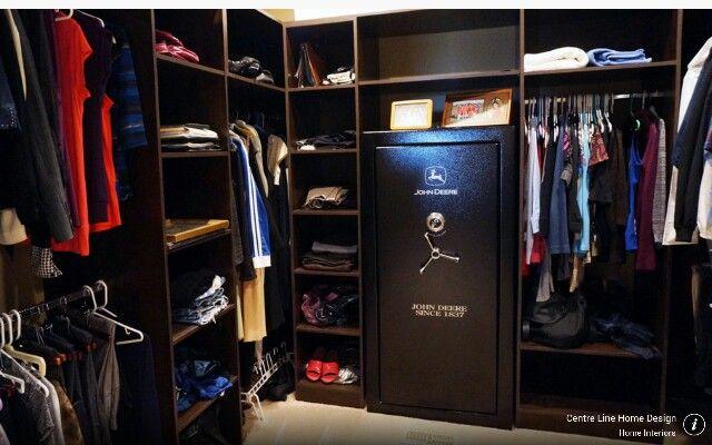 Closet with Gun Safe
