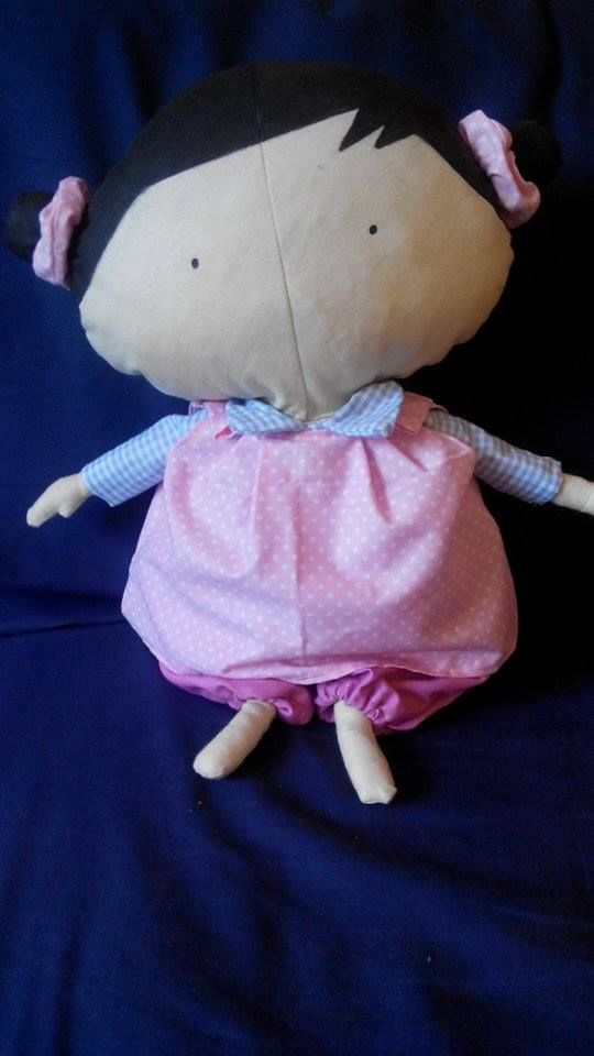 Baby Tilda in sweet pink dress