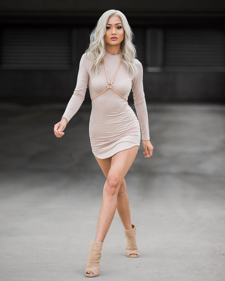 Micah Gianneli Nude X Neutrals Dress From