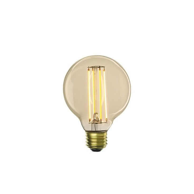 4W - 60W Replacement - Dimmable LED Antique Light Bulb - G25 Globe - Medium Base - Bulbrite Nostalgic LED4G25/22K/FIL-NOS