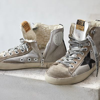 Golden Goose Womens High-tops & Trainers in Blue - Golden Goose Outlet