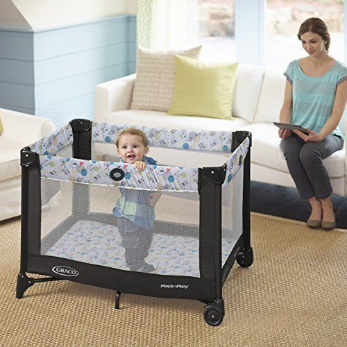 Play N Pack Playard Graco Baby Playpen Travel Bed Toddler Automatic Folding Feet #Graco