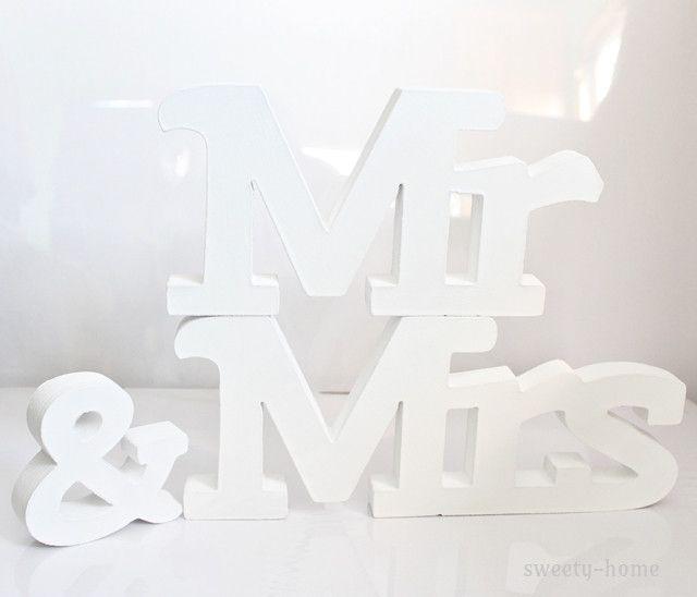 NAPIS drewniany Mr&Mrs  Dekoracje ślubne