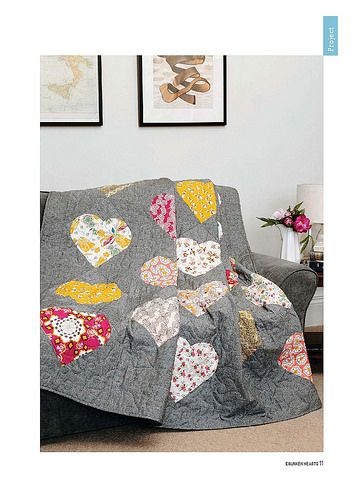 My Drunken Hearts Quilt in Feb16 issue of British Patchwork & Quilting | by Just Jude Designs
