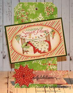 Lindas papercrafting: Juletags av restepapir