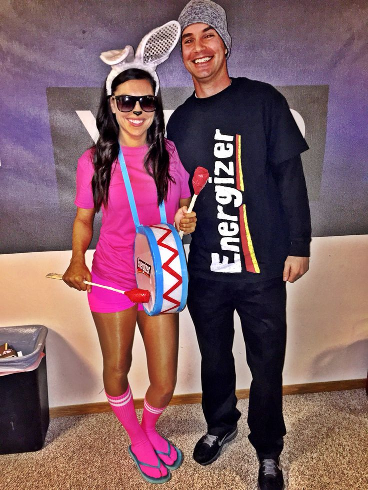 Energizer bunny and battery pack costume