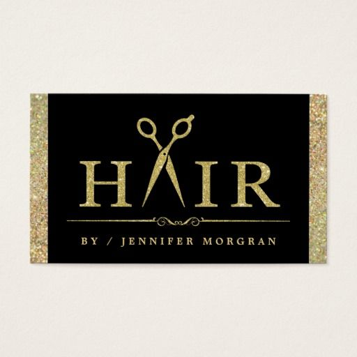 Cartão Sparkling da nomeação do cabeleireiro do Cartão De Visita