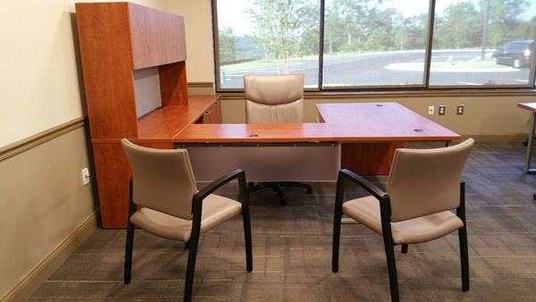 Cherokee County School District (Gaffney, SC) Flourish desk in a private office setting. #NationalOffice