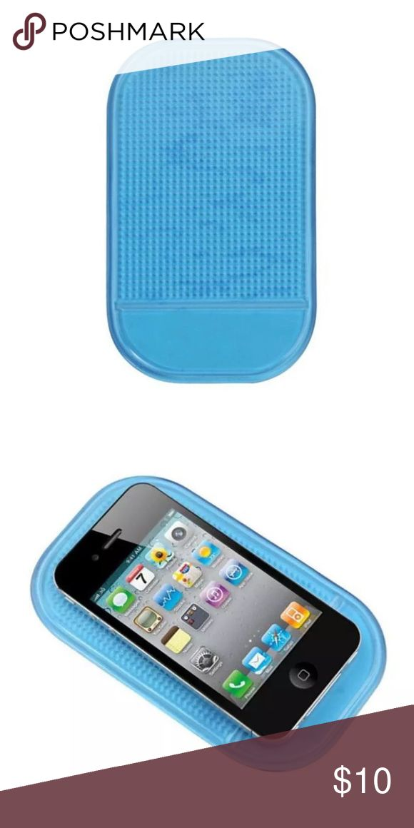 🆕 2 for $10 ❣️Anti Non Slip Mat ❣️(Blue) Holds Objects on Dash Washable, Removable, Reusable Temperature Resistant Non-Magnetic Secure mobile phones, coins, sunglasses, MP3 Players, and ipods on any unpainted dashboard, with the new and improved Hand stands' sticky pad Designed to prevent slipping and sliding, the Sticky Pad is the perfect accessory to complement the dash, and secure all hand held devices.  Size: 14.5 x 8cm (L x W) Packet included:  1 x Magic anti-slip Non-slip mat Other