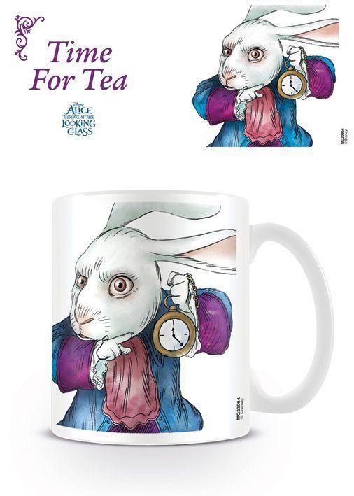 Alice through the looking glass / Alice de l'autre côté du miroir mug White Rabbit